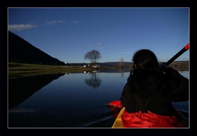Planinsko polje iz čolna - foto