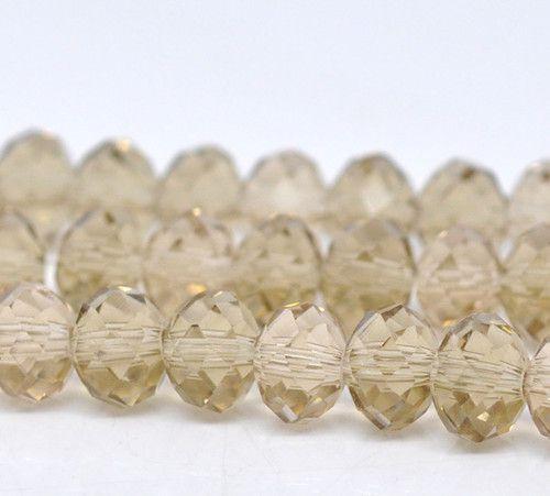 Kristalne perle 8x6mm, barva šampanjca, 25 kom=1,5 evr