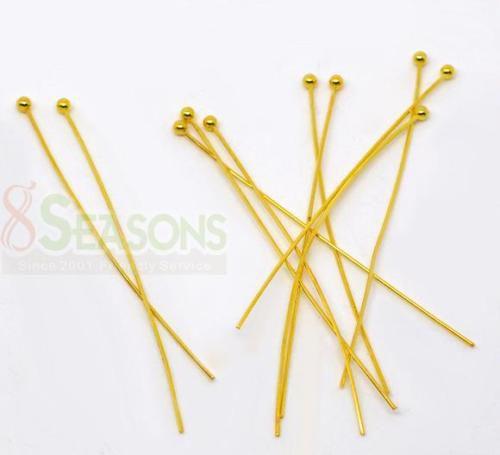 Palčke, obešanke za uhane z bunko, zlate barve, 5 cm dolžina, 50kom=1,2 evr