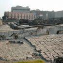 edini ostanki nekdanje Azteške prestolnice Tenochtitlan
