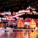 sončni zahod - Bergen