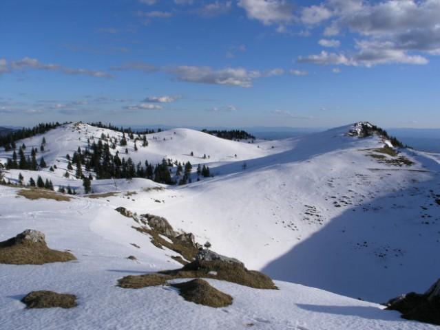 Tu pa snežne planjave...