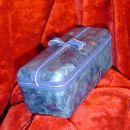 Plastična škatlica...2 odtenka modrega riževega papirja+trak