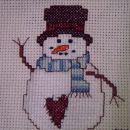 ...simpatičen snežko na Vavini krpici