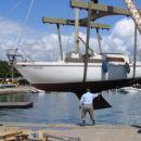 pred potovanjem moramo barko dobro očistiti in pripraviti za plovbo