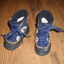 zimski škornji, nepremočljivi, podloženi, unisex, št. 24, 8 eur