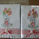 velikonočna kuhinjska brisačka za roke