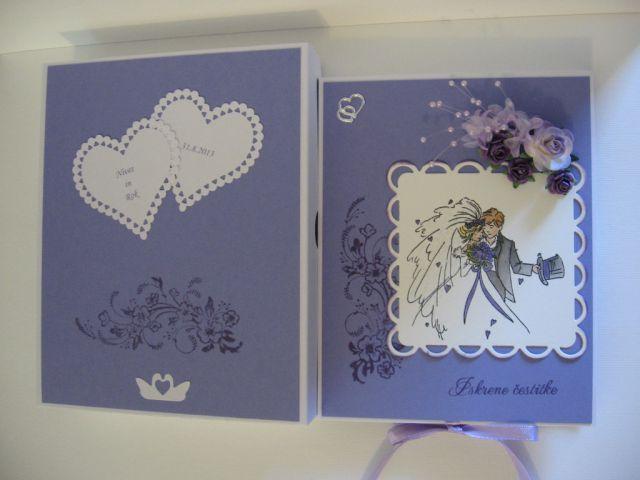 Poročna čestitka s škatlo