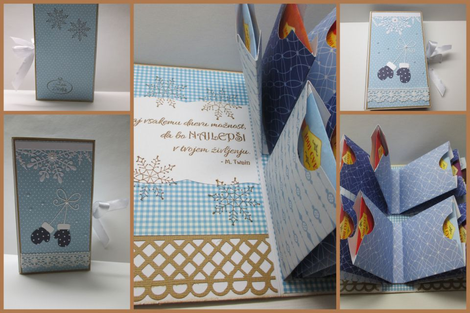 čajna knjigica za 12 čajnih vrečk