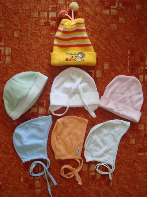 Bombažne kapice za dojenčka, št.56-68