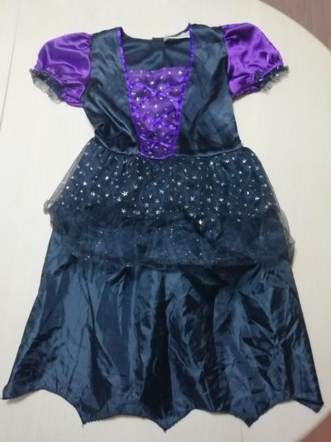 Pustni kostum-komplet za čarovničko,6-8 let