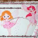 Otroška nalepka, stenska nalepka vile z čarobno palico in metulji
