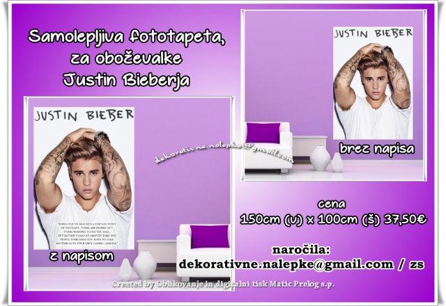 Justin Bieber fototapeta