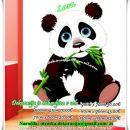 Otroška stenska nalepka panda z vejico