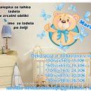 Otroška stenska nalepka medvedek