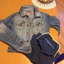 Hm jeans jakna in polo maja kratek rokav- kot novo