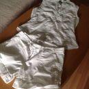 Bele kratke hlače in srajčka hm S