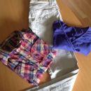 komplet hlače stefanel, srajca Urko in majčka hm s