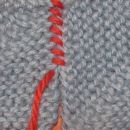 sešivanje pletenih kvadratkov 1