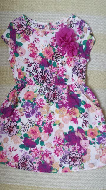 H&M obleka roze,st.:104(3-4L)