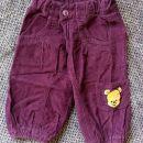 žametne hlače, medo pu, 68, 3eur