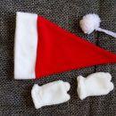 božična kapica in rokavice