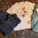 S.oliver kapucar& Zara majcka in jeans legice 128