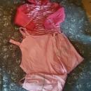 Dežni plašč +dežne  hlače za deklico 122-128