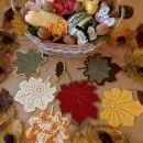 vzorci za kvačkanje listov in metulja