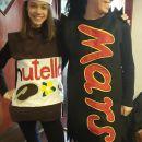 pustni kostum nutella, kostum Mars čokolada