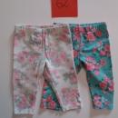 2x rožaste hlače-pajkice Št:62 cena: 4€