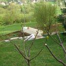 pogled z balkona med gradnjo