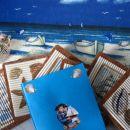 to sem naredila za swap Mediteran za Nitty; slika, podstavki za kozarce,vizitka