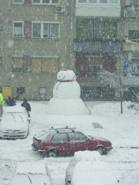 Zima (snežak) - foto