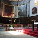 Notranjost cerkve v Briansonu