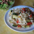 Pražena zelenjava z rižem
