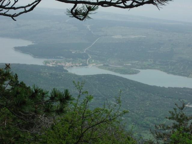 Pogled na Osor iz 'direktne' poti v Nerezine