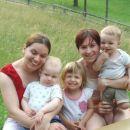 trije slavljenci:Anamaria,Lenart in jaz