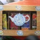 Škatla za čaj,okrašena s servetki