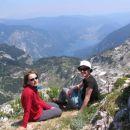 pogled na Bohinjsko jezero (nekje na poti do Kuka)