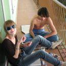 Tole sta Katja pa Grega na caju na njunem aftercu...pa sred januarja na mojem balkonu :)