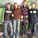 V Arboretumu konec oktobra, Dominik, Lara, Domen, Uroš