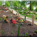 Mezarje na groblju u Jesenicama-Slovenija.