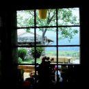 Pogled skozi kuhinjsko okno.