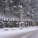 Spomenik NOB Litija - sneg