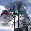 Slovenska zastava & zastava občine Ivančna Gorica