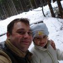Ati in Žan, nekje za mejo (tam kjer je sneg ;)