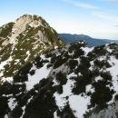 Pogled na prehojen greben.