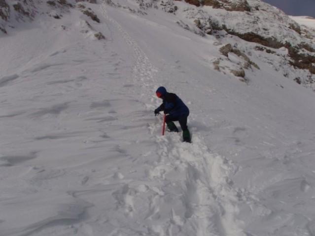 46 Kljub krhkosti snega poizkušava naprej.