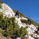 Pred borovci smo šli direktno na vrh.